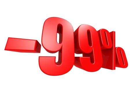 Minus 99 percent Stock Photo - 17274494