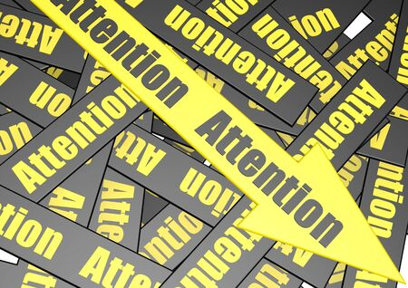Attention banner Stock Photo - 17346113