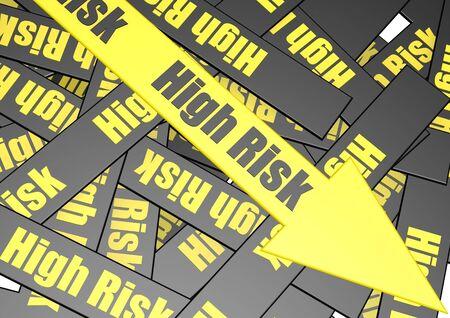 High risk banner Stock Photo - 17346112