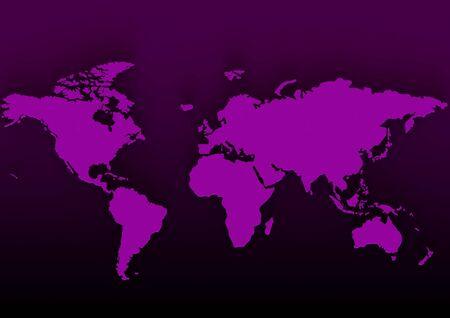 Purple map Stock Photo - 17346108