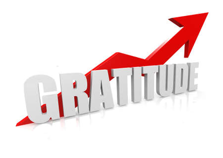 Gratitude with upward red arrow Stock Photo - 17434465