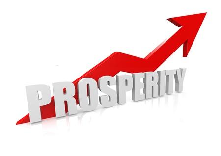 Prosperity with upward red arrow Stock Photo - 17434464