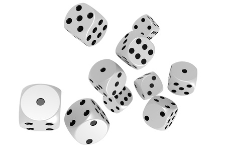 Falling dices Stock Photo - 17462029