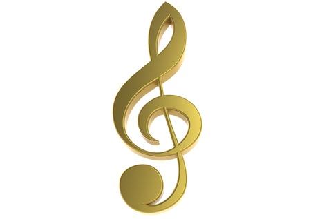 Golden clef Stock Photo - 17462045