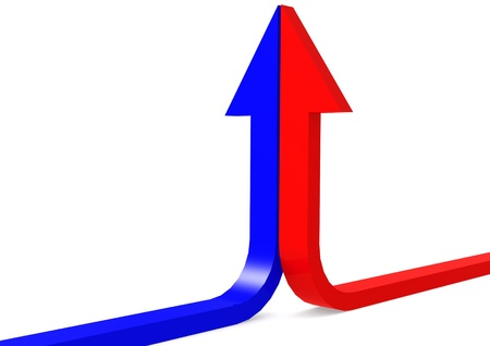 Red blue up arrows Stock Photo - 17462042