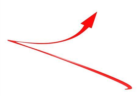 Twist arrow Stock Photo - 17462040