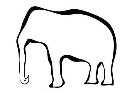 Elephant frame photo