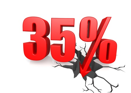 thirty five: Thirty five percent down