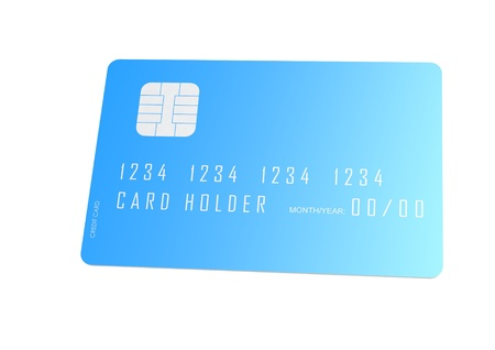 Blue credit card Stock Photo - 17752663