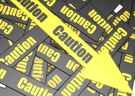 Caution banner Stock Photo - 17755675