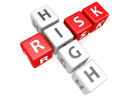 High risk in cube Stock Photo - 17755627