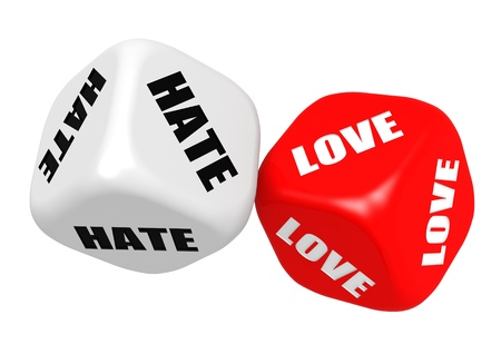 Love hate dices photo