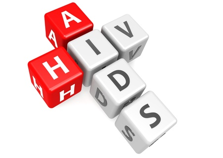 AIDS and HIV in cube photo
