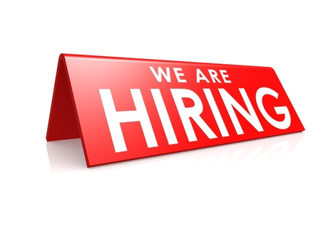job opportunities: We are hiring tag Stock Photo