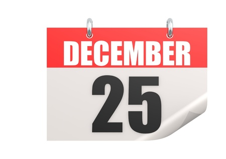 december kalender: 25 december kalender Stockfoto