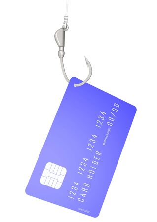 Credit card with hook Stock Photo - 17996138