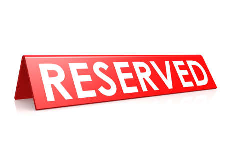 reserved: Reserved tag in red