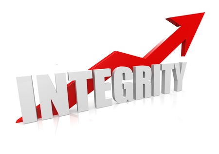 Integrity with upward red arrow Stock Photo - 18029561