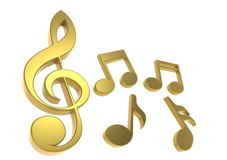 pentagrama musical: Nota con música