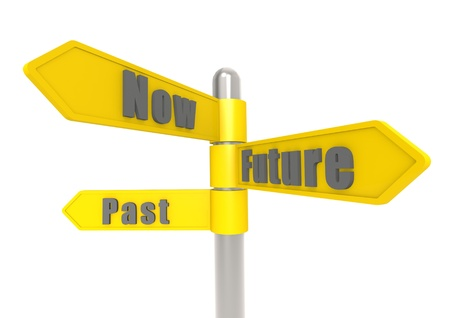 Circumstance: Now past future sign post