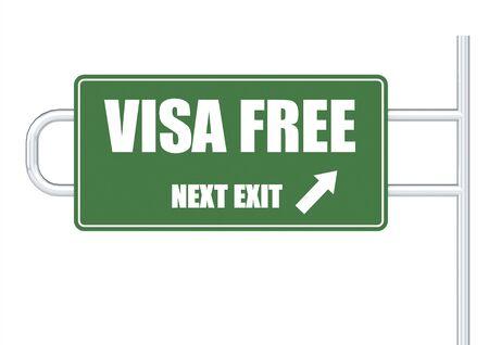 short phrase: VISA free Stock Photo