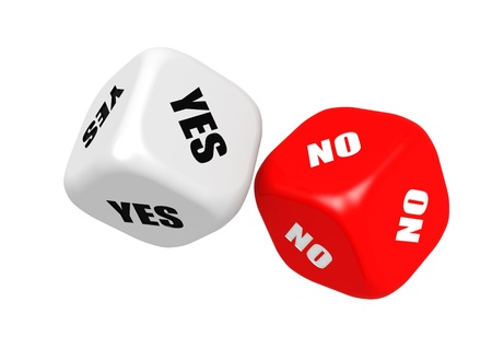 Yes no dices Stock Photo - 18029564