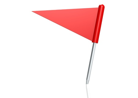 Red triangle flag pin photo