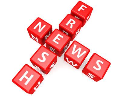 fresh news: Fresh news in block Stock Photo