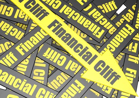 financial cliff: Financial cliff banner