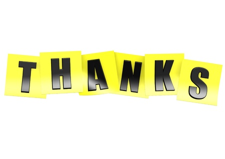 notelet: Thanks in yellow note