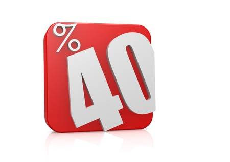 40: 40 percent in cube