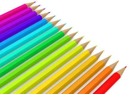 aligned: Color pencil line up