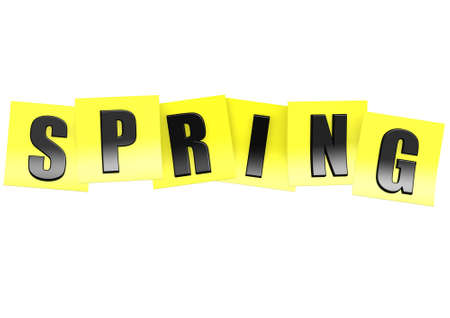 Spring in yellow note Stock Photo - 18195561