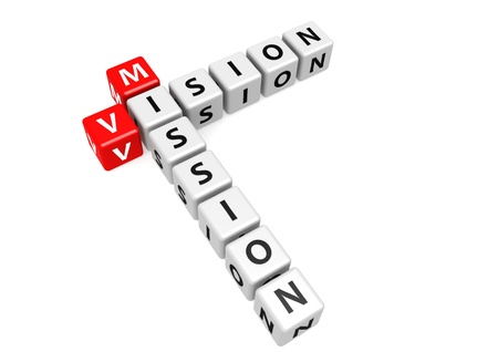 Vision mission of business Stock Photo