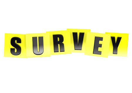 Survey in yellow note Stock Photo - 18226103