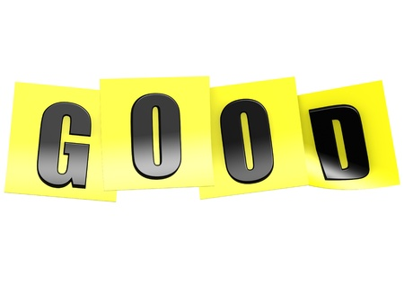 Good in yellow note photo