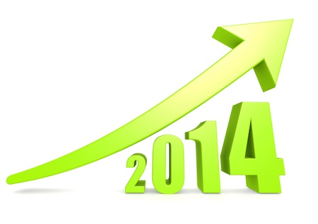 Growth of 2014 Stock Photo