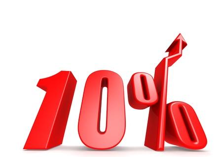 Up 10 percent Stock Photo - 18292879