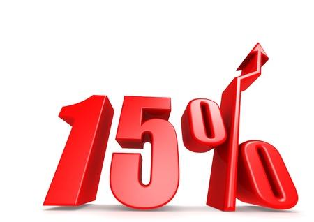 sales chart: Up 15 percent