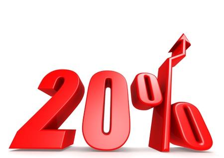 Up 20 percent Stock Photo - 18292885