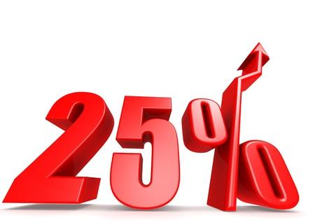 Up 25 percent Stock Photo - 18292894