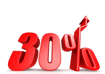 Up 30 percent Stock Photo - 18292889