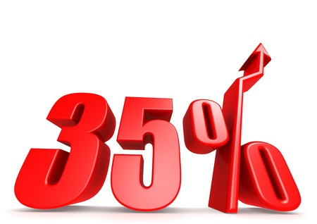 Up 35 percent Stock Photo - 18292896