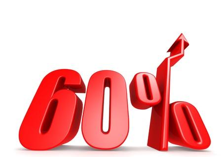 Up 60 percent Stock Photo - 18292888
