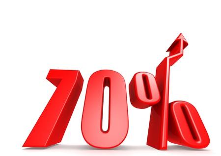 Up 70 percent Stock Photo - 18292880