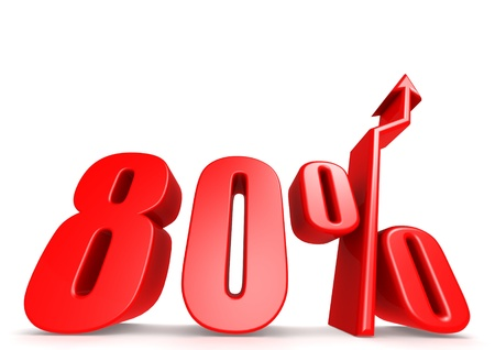 Up 80 percent Stock Photo - 18292886