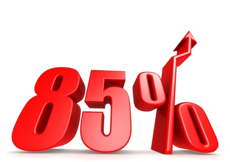 Up 85 percent Stock Photo - 18292895