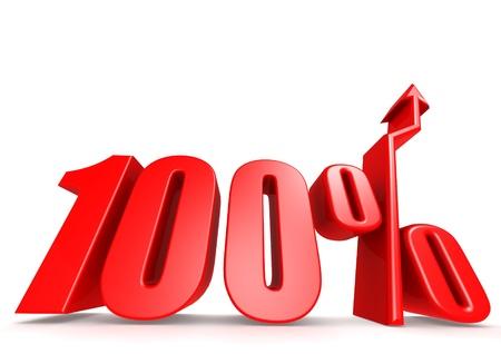 Up 100 percent Stock Photo - 18292891
