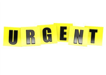 urgent: Urgent in yellow note