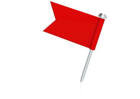 fixation: Red flag pin Stock Photo